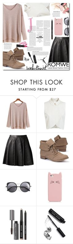 """""""Style is a way to say who you are,without speaking."""" by elizabeth4ever ❤ liked on Polyvore featuring Miss Selfridge, MuuBaa, Wood Wood, Kate Spade, Anja and Bobbi Brown Cosmetics"""
