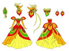 phoenix dress design by Eranthe.deviantart.com on @deviantART