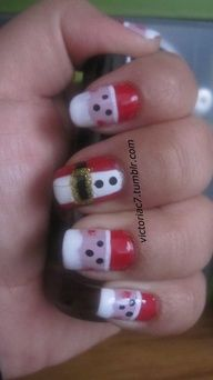 Seriously... Cute nail designs make me want to get acrylics.