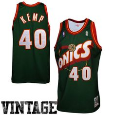 d53b74052 Micthell  amp  Ness Seattle SuperSonics  95 Shawn Kemp Authentic Jersey -  Green -  299.99
