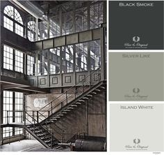 Industrial mood board from Pure & Original.