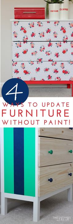 4 Ways to Transform Furniture Without Paint Title Image