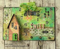 Home Sweet Home Key Holder created for Simon Says Stamp Monday Challenge