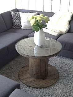DIY Cable drum table