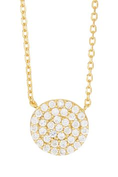 Argento Vivo Circle Pendant Necklace by Argento Vivo on @nordstrom_rack