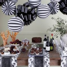 Black and white chic party ideas