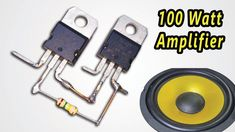 In this video, we are going to show you making a Powerful amplifier circuit using only two transistor. It is a super loud amplifier circuit. Electronics Mini Projects, Electrical Projects, Diy Electronics, Electronic Circuit Design, Electronic Engineering, Amplificador 12v, Diy Subwoofer, Electrical Circuit Diagram, Car Audio Installation