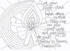 pentecost bookmark craft