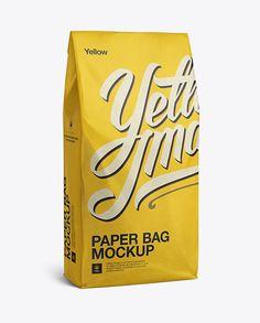 Paper Bag Mockup - Halfside View (Preview)