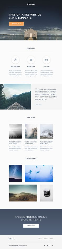 Good use of image and quote | passion free html responsive email template