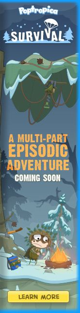 Poptropica- love the new survival ones! <3