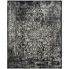 Safavieh Evoke Vintage Oriental Black/ Grey Distressed Rug (8' x 10') | Overstock.com Shopping - The Best Deals on 7x9 - 10x14 Rugs
