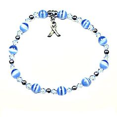 Please pray for my friend Doug when you see this...this is a Prostate Cancer Awareness Bracelet!