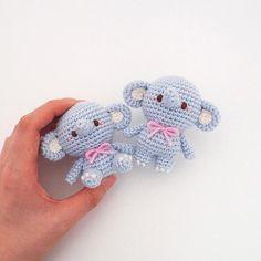 Crochet elephant doll amigurumi pattern by isoDreams