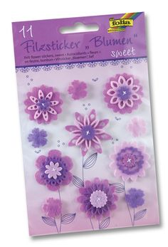 Bunte Filzsticker in vielen kräftigen Designs und Farben sorgen für eine positive Aufwertung Ihrer Bastelprojekte und Wohnaccessoires. Mehr unter www.folia.de