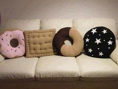 I need those donut pillows!