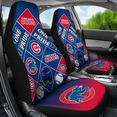 Pride Flag of Pro Chicago Cubs Car Seat Covers – Vota Color Cubs Pictures, New Style Tops, Oakland Raiders Logo, Cute Presents, Minnesota Twins, Minnesota Vikings, Vintage Swim, Vegas Golden Knights