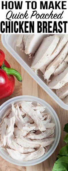This is the EASIEST way to cook chicken for quick weeknight meals! Great for making shredded or sliced chicken for easy soups, lunch salads, burrito bowls, and more.
