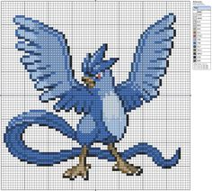 Pixel art of Glaceon from Pokémon, Nintendo. LIKE THIS PIXEL ART? Visit for more grids just like this! Pokemon, Zelda, Mario, and much much more! Please Credit my grids if you use them and then upl...