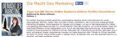 Die Macht Des Marketing - Tipps Um Mit Ihrem Online Business Höhere Profite Einzufahren.