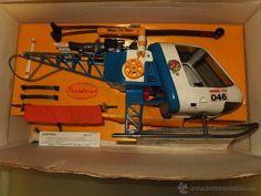 ¡LOS ORIGINALES! MADELMAN ORIGINAL S80 Helicóptero Rescate completo con caja e instrucciones R.800