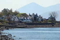 This is a small village called Applecross on the West Coast Highlands of Scotland. It sits on the banks of the Inner Sound overlooking the Isle of Skye.