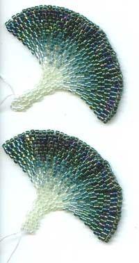 Beadwoven Ginkgo Leaf Earrings by ginkgogirl on Etsy