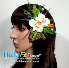 Mini orchidées hawaïennes et Anthuriums Hula pince par HulaFlowers