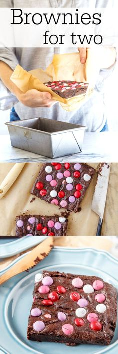 Small batch brownie recipe for two. A fun Valentineapos;s Day chocolate dessert for two, or all for you on a Monday. Your choice ;) DessertForTwo