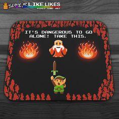 Zelda It's Dangerous Mousepad by LikeLikes on Etsy, $14.00
