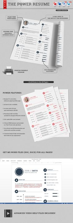 Check out The Power Resume/CV Set V 2.0 by SNIPESCIENTIST on Creative Market
