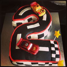 Disney cars number 2 birthday cake