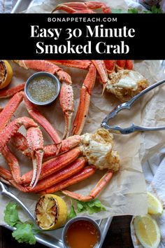 An easy to make, smoked crab leg recipe that's perfect for spring and summer parties and get togethers! Toss these on the grill and impress your guests in under 30 minutes! Salmon And Asparagus, Baked Salmon, Traeger Recipes, Grilling Recipes, Crab Legs On The Grill, Grilled Crab, Crab Legs Recipe, Salmon Salad Recipes, Pellet Grill Recipes