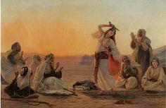 Pintura de Otto Pilny (1866-1936) - Pintor orientalista suizo