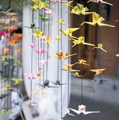 How to Make a Beautiful Origami Crane Mobile: Origami Mobile Instructions