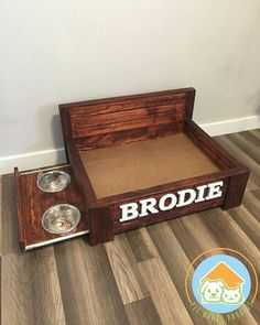 Items similar to Medium Rustic wood dog bed with pull out feeding station- Raised dog bed with built-in food stand- Medium Pet Bed on Etsy Wood Dog Bed, Pallet Dog Beds, Diy Dog Bed, Wood Beds, Homemade Dog Bed, Raised Dog Beds, Dog Beds For Small Dogs, Dog Rooms, Pet Furniture