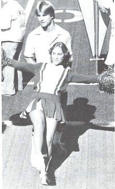 Cheerleaders at Autzen Stadium 1978.  From the 1979 Oregana (University of Oregon yearbook). www.CampusAttic.com