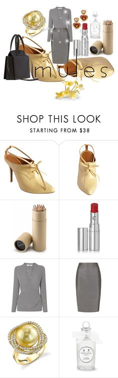 """""""DESIREE"""" by pursue-happiness ❤ liked on Polyvore featuring Balenciaga, Chantecaille, MaxMara, Margot McKinney and mules"""