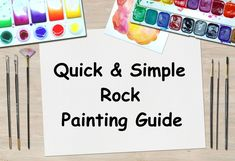 A straight to the point quick guide to painting rocks, for those who already have an idea of the rock painting process. If you're looking for a fast...