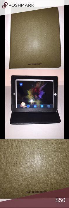 "Burberry iPad case. Olive. Fits iPad 2  9.5 x 7.5"" Olive Burberry iPad Case. Like New. Burberry Accessories Laptop Cases"