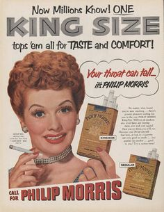 vintage ad... Lucy...I love Lucy!!!