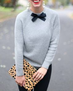 This cute and classic style adds a bit of cheer to fall and winter seasons.