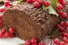 Sugar-free Yule log - Go Vita Chocolate Log, Chocolate Lovers, Cocoa, Chocolate Pictures, Yule Log, Health Shop, Food Categories, Holiday Recipes, Holiday Meals