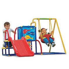 Toddler Swing Set, Slide & Ball Pit Activity Gym by One ...