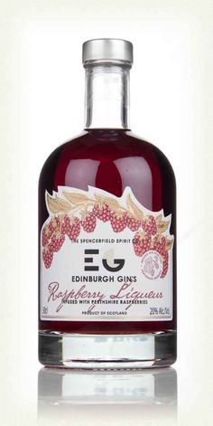 A tasty Raspberry-flavoured gin liqueur made in Edinburgh using Scottish Juniper, and other botanicals, and an infusion of delicious, crisp Scottish raspberries. Gin Festival, Flavoured Gin, Gins Of The World, Raspberry Liqueur, Gin Bottles, Wine And Liquor, Bottle Packaging, Gin And Tonic, Liqueurs