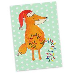 Postkarte Fuchs Weihnachten aus Karton 300 Gramm  weiß - Das Original von Mr. & Mrs. Panda.  Diese wunderschöne Postkarte aus edlem und hochwertigem 300 Gramm Papier wurde matt glänzend bedruckt und wirkt dadurch sehr edel. Natürlich ist sie auch als Geschenkkarte oder Einladungskarte problemlos zu verwenden. Jede unserer Postkarten wird von uns per Hand entworfen, gefertigt, verpackt und verschickt.    Über unser Motiv Fuchs Weihnachten  Die Fox Edition ist eine besonders liebevolle…