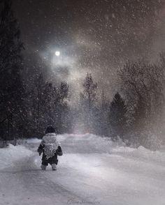 The snow way by Elena Shumilova on 500px