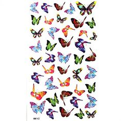 King Horse Small butterfly tattoo stickers waterproof sexy glamorous * Check out the image by visiting the link. (This is an affiliate link) Small Butterfly Tattoo, Butterfly Tattoo Designs, Star Butterfly, Best Temporary Tattoos, Fake Tattoos, Tattoo Kits, Diy Tattoo, Tattoo Ideas, King Horse