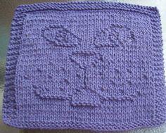 DigKnitty Designs: Cat Face Knit Dishcloth Pattern