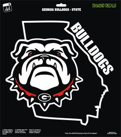 Georgia Bulldogs w/State Design College NCAA Football Team Decal Sticker Car Truck Laptop SUV Window by DiamondDecalz on Etsy